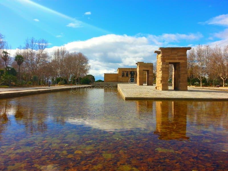 Temple DE Debod royalty-vrije stock afbeelding