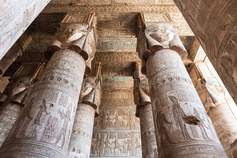Temple de Dendera en Egypte photo stock