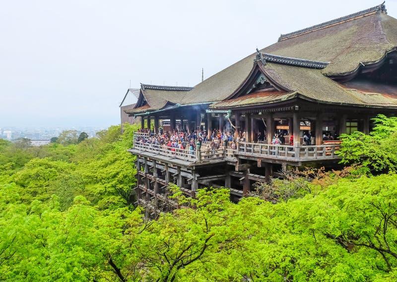 Temple de dera de Kiyomizu à Kyoto photos libres de droits