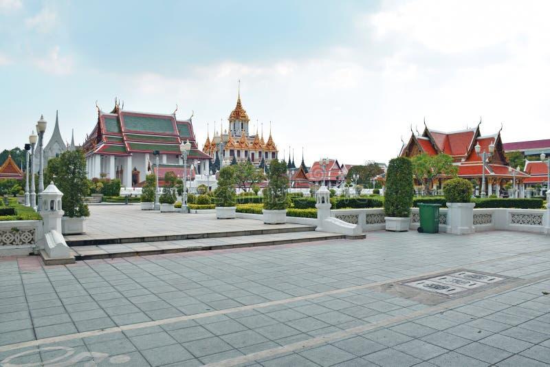 Temple de fer en Wat Ratchanatdaram Worawihan, Bangkok photo stock