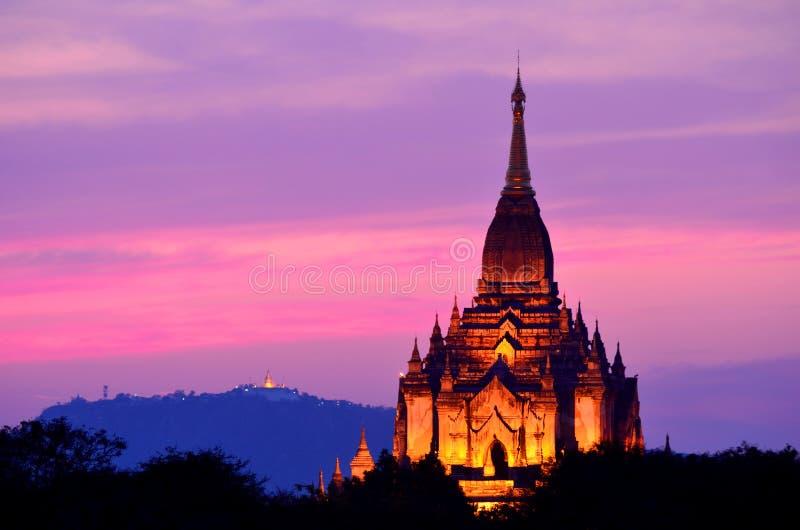 Temple de Gawdawpalin images libres de droits