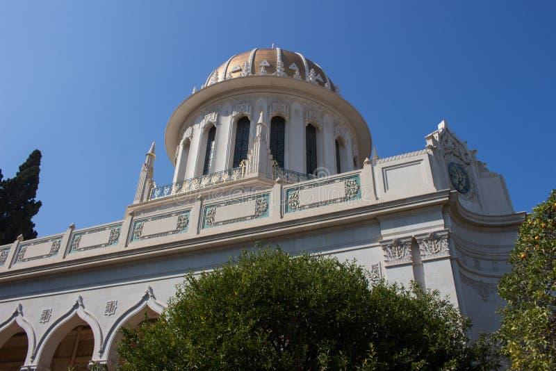 Temple de Golden Dome Bahai image libre de droits