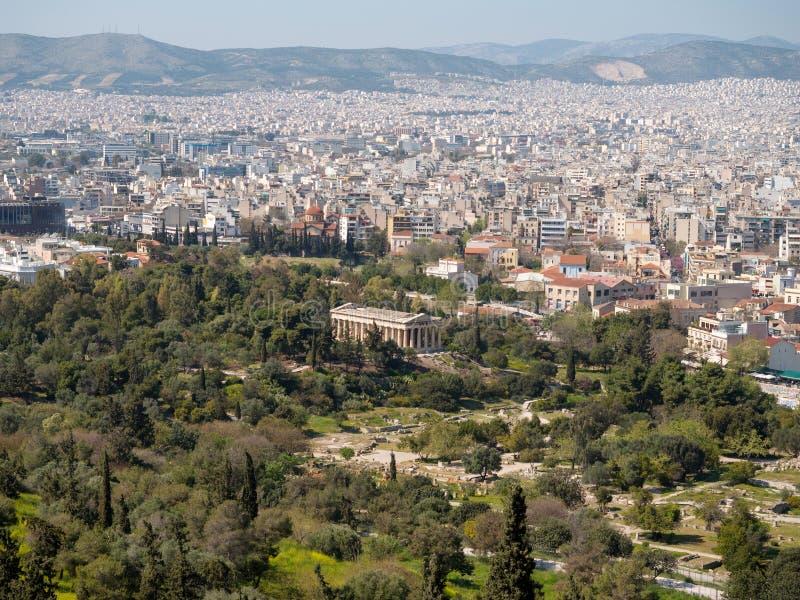 Temple de Hephaestus à Athènes, Grèce photos libres de droits