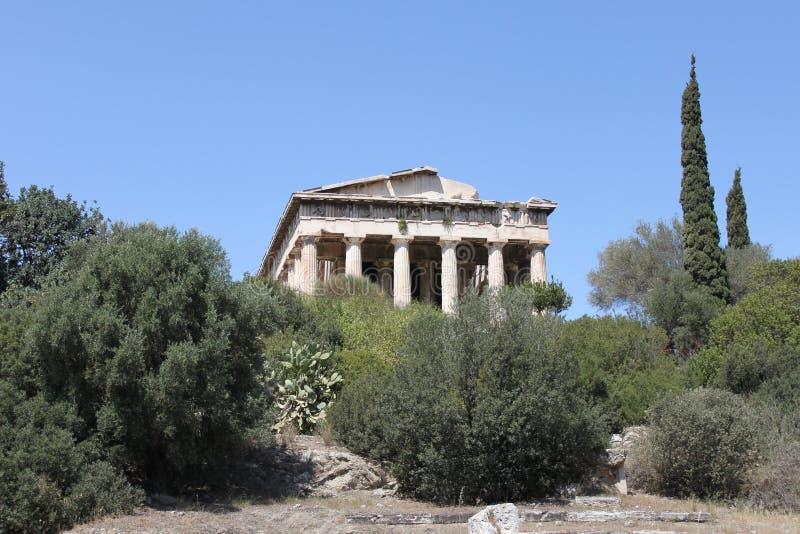 Download Temple De Hephaestus - Athènes - La Grèce Image stock - Image du toit, perspective: 76082773