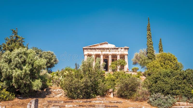 Temple de Hephaestus dans l'agora, Athènes, Grèce images libres de droits