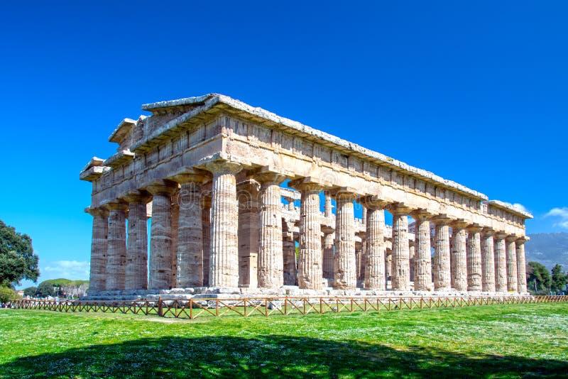 Temple de Hera, Paestum, Italie images stock