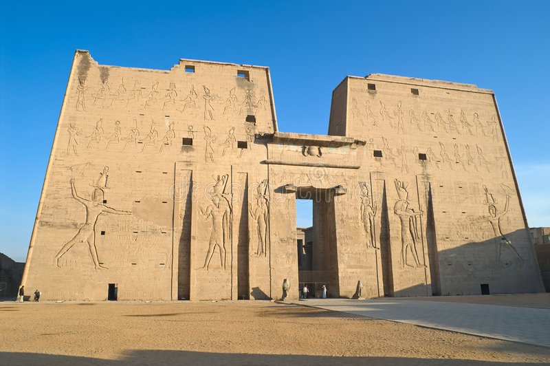 Temple de Horus, Edfu, Egypte photos libres de droits
