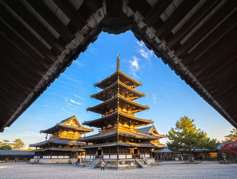 temple de Horyu-JI à Nara, Japon image stock