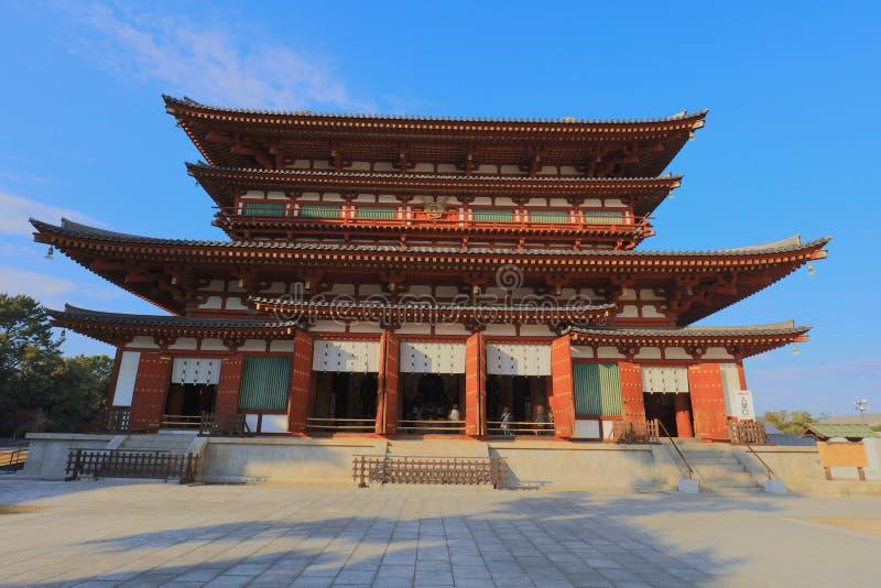Temple de ji de Yakushi à Nara, site de patrimoine mondial de l'UNESCO photo stock