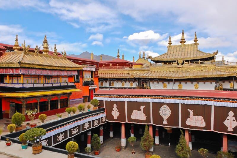 Temple de Jokhang, Thibet images libres de droits