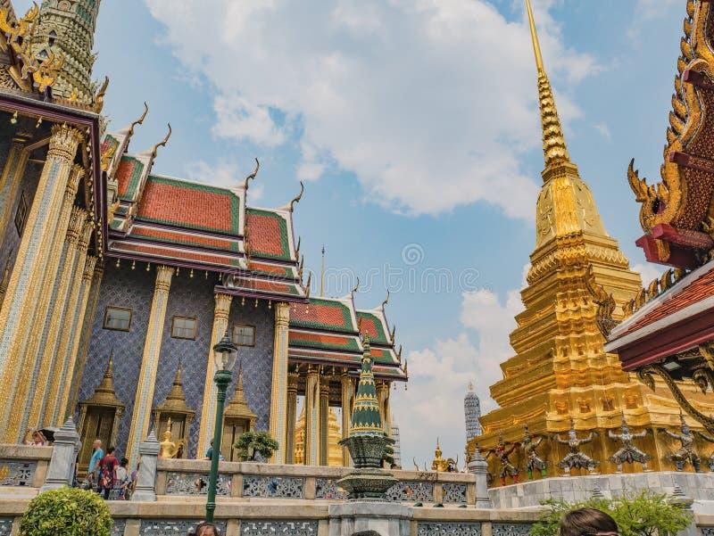 Temple de kaew de phra de Wat à la ville Thaïlande de Bangkok Wat Phrakeaw Temple est le temple principal de Bangkok photographie stock
