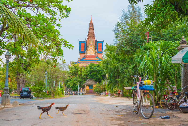 Temple de Kampot image stock