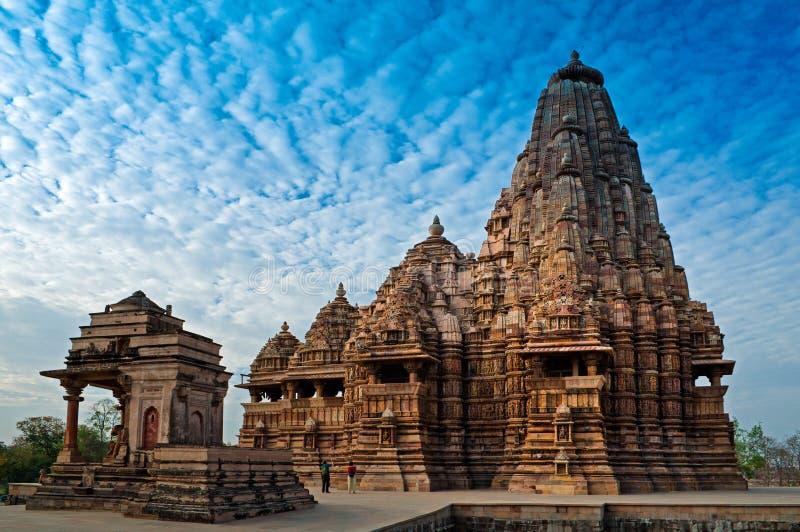 Temple de Kandariya Mahadeva, Khajuraho, Inde, site d'héritage de l'UNESCO photo libre de droits