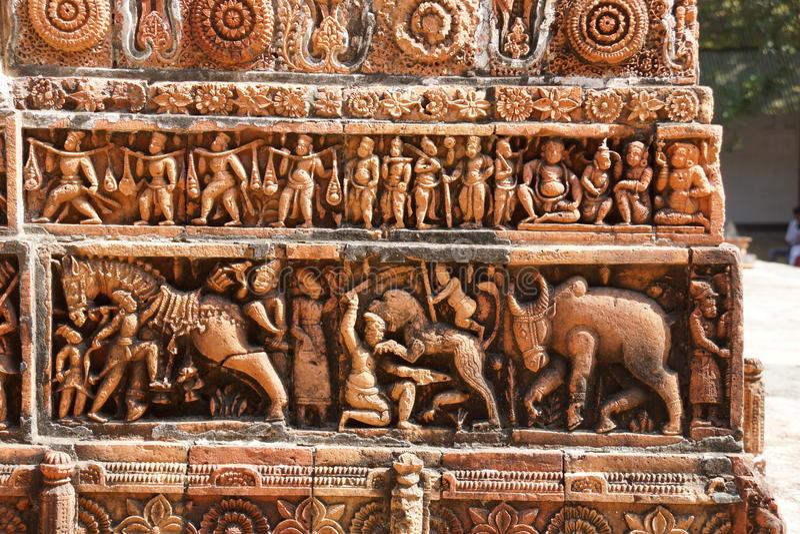 Temple de Kantaji, Dinajpur photographie stock libre de droits