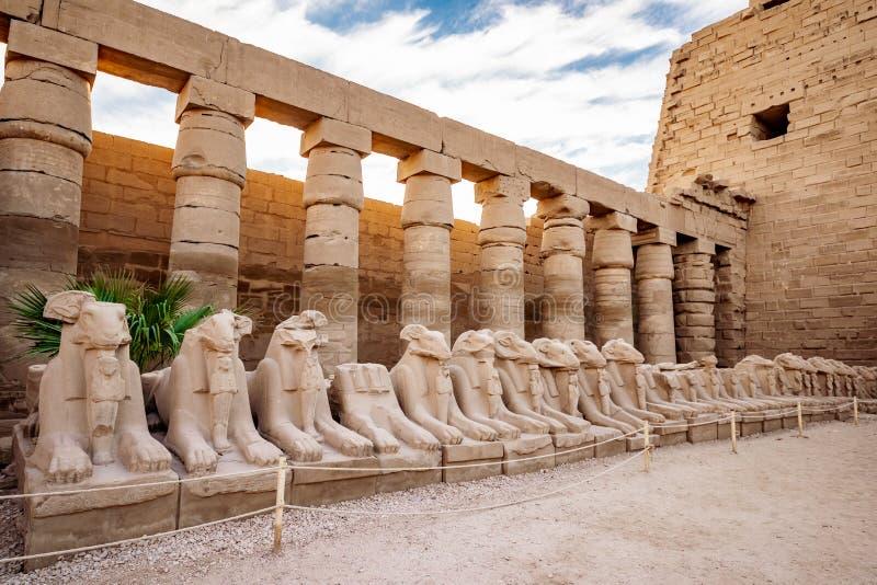 Temple de Karnak à Luxor, Egypte Le complexe de temple de Karnak, généralement connu sous le nom de Karnak, comporte un vaste mél photos stock