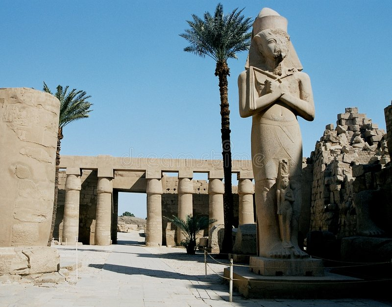 Temple De Karnak Images libres de droits