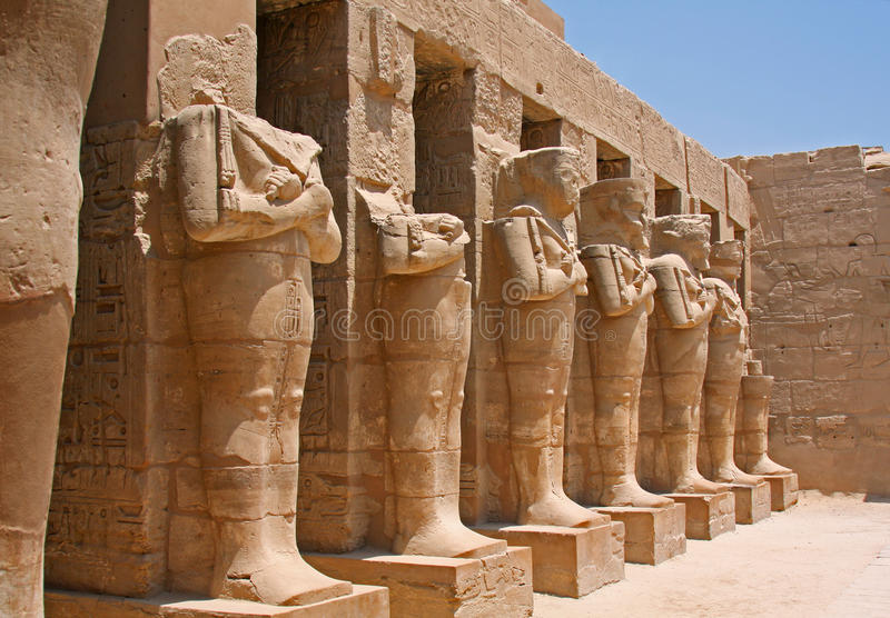 Temple de Karnak en Egypte images libres de droits
