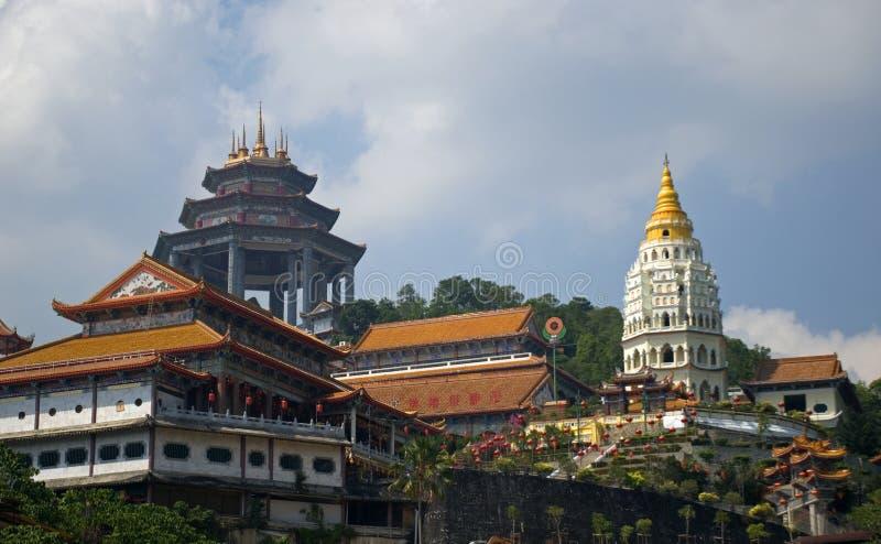 Temple de Kek Lok Si, Penang, Malaisie images stock