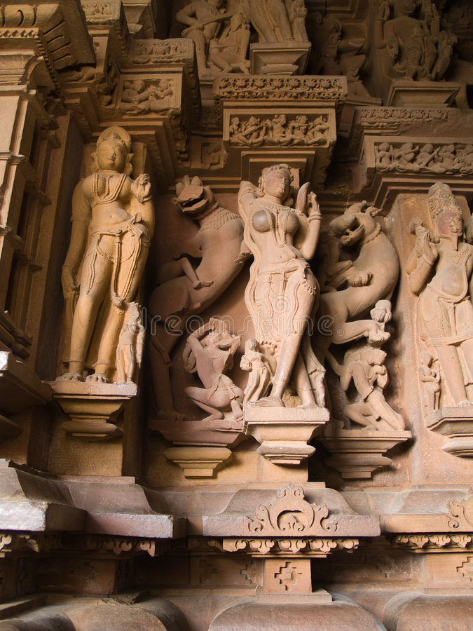 temple de khajuraho image stock