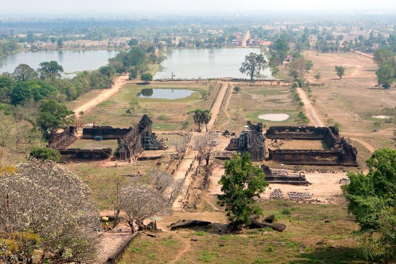 Temple de Khmer de Wat Phu au Laos image stock