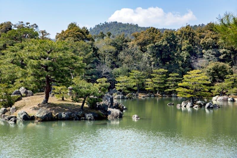 temple de Kinkaku-JI ou pavillon d'or images libres de droits