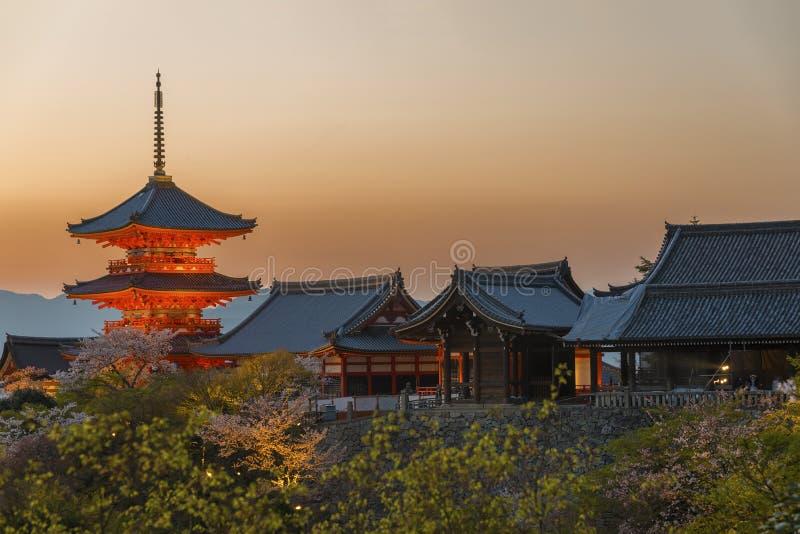 Temple de Kiyomizu à Kyoto Japon images libres de droits