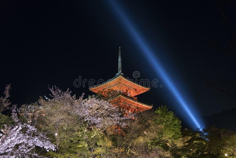 Temple de Kiyomizu à Kyoto Japon photographie stock