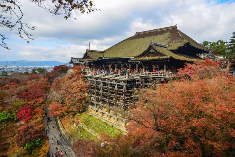 Temple de Kiyomizu à l'automne à Kyoto, Japon photo stock