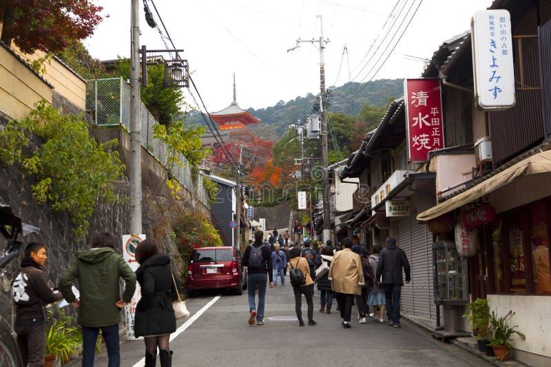 Temple de Kiyomizu-dera images libres de droits