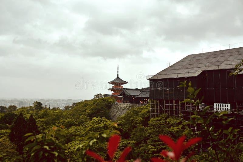 Temple de Kiyomizu-dera ? Kyoto, Japon images libres de droits