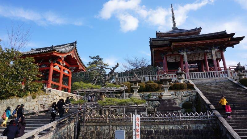 Temple de Koyomizu de visite de touristes image stock