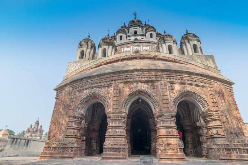 Temple de Krishna Chandra de Kalna, le Bengale-Occidental, Inde images libres de droits