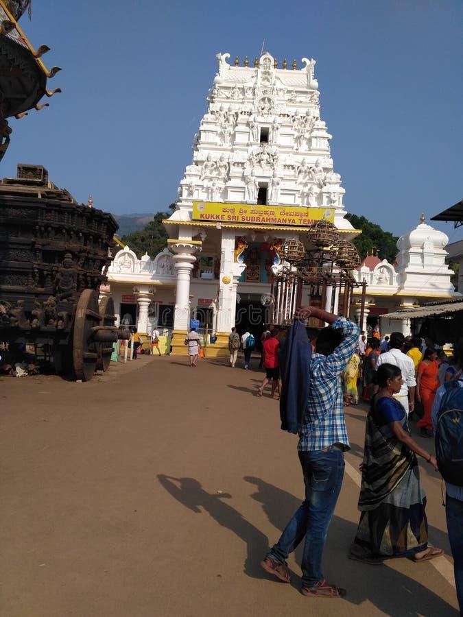 Temple de Kukkesubrahmanya photo libre de droits