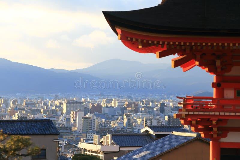 Temple de Kyomizu dans la saison Kyoto Japon d'hiver photos libres de droits