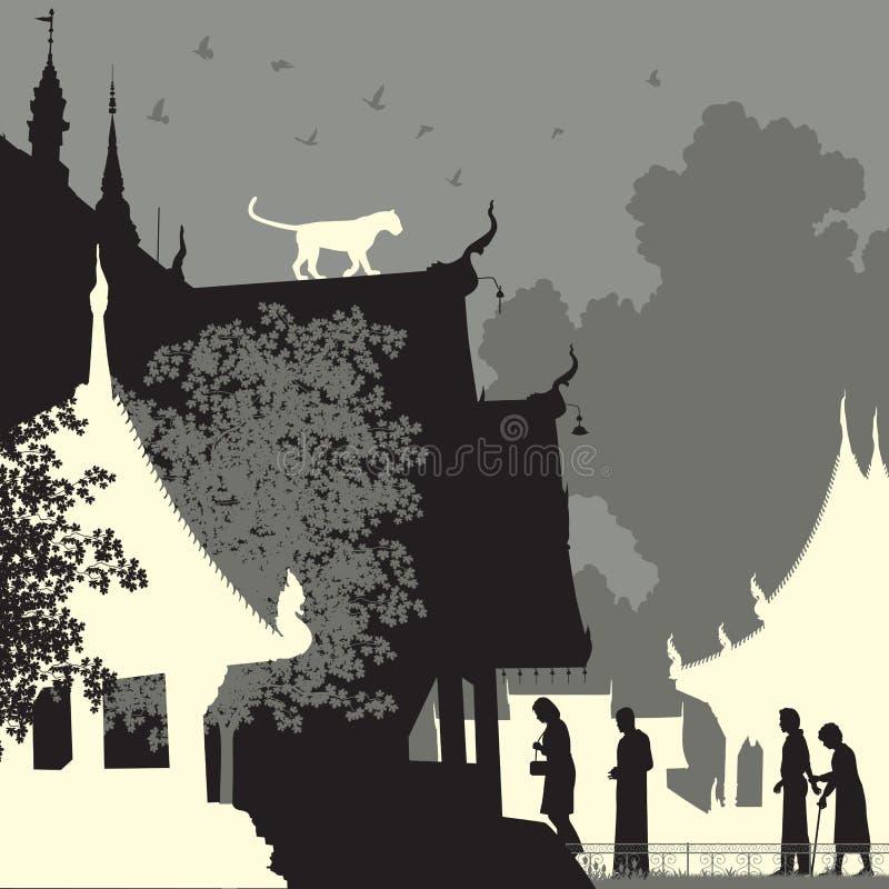 Temple de léopard illustration de vecteur