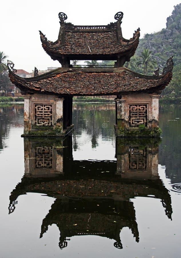 Temple de l'eau photo stock