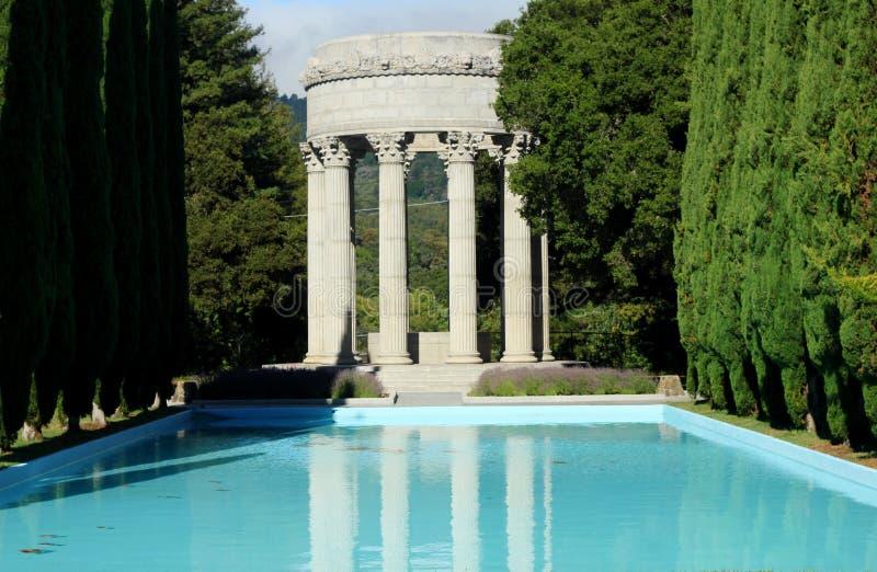 Temple de l'eau de Pulgas, la Californie images libres de droits