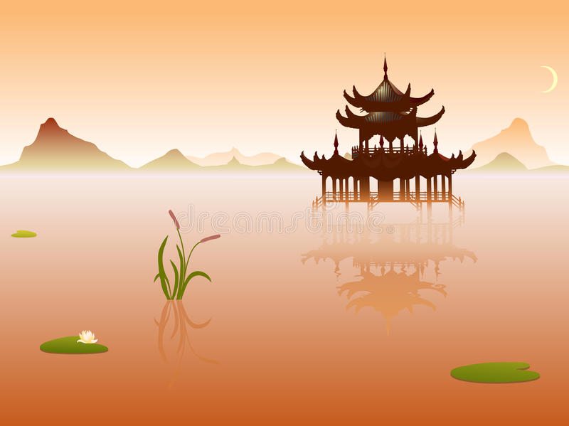 Temple de l'Orient illustration de vecteur