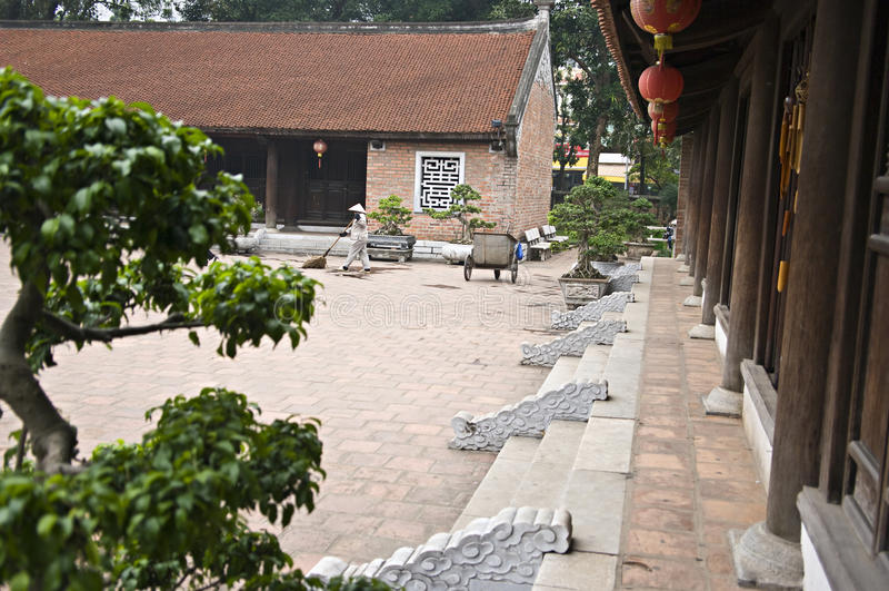 Temple de la littérature, Hanoï, Vietnam. photos stock