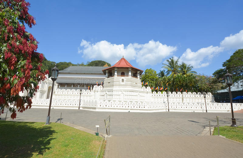 Temple de la relique sacrée de dent, Sri Lanka photographie stock libre de droits