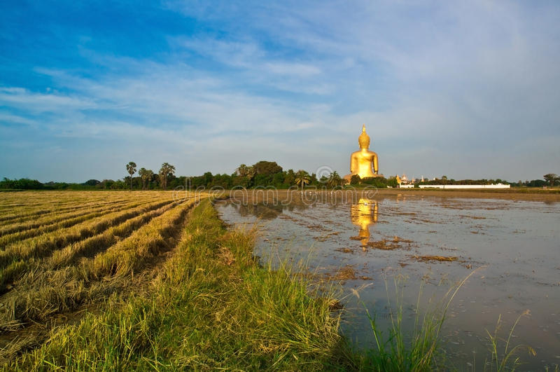 Temple de la Thaïlande de lanière d'ANG de muang de Wat photo libre de droits