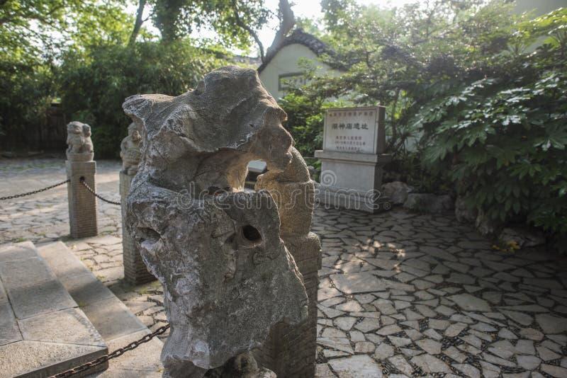 Temple de lac en parc de lac Xuanwu, Nanjing photos libres de droits