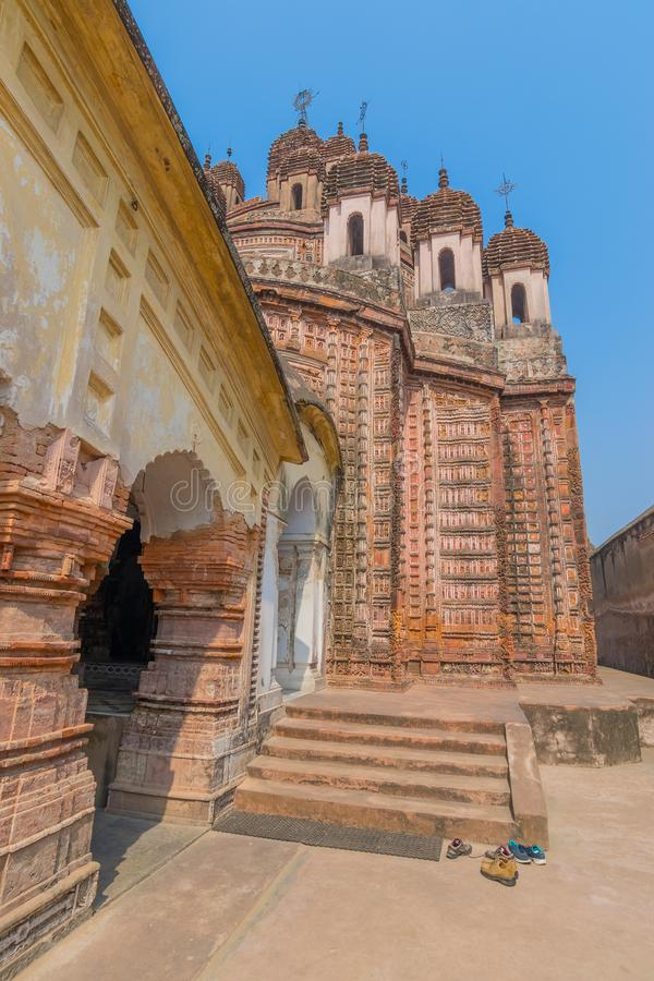 Temple de Lalji de Kalna, le Bengale-Occidental, Inde photo libre de droits