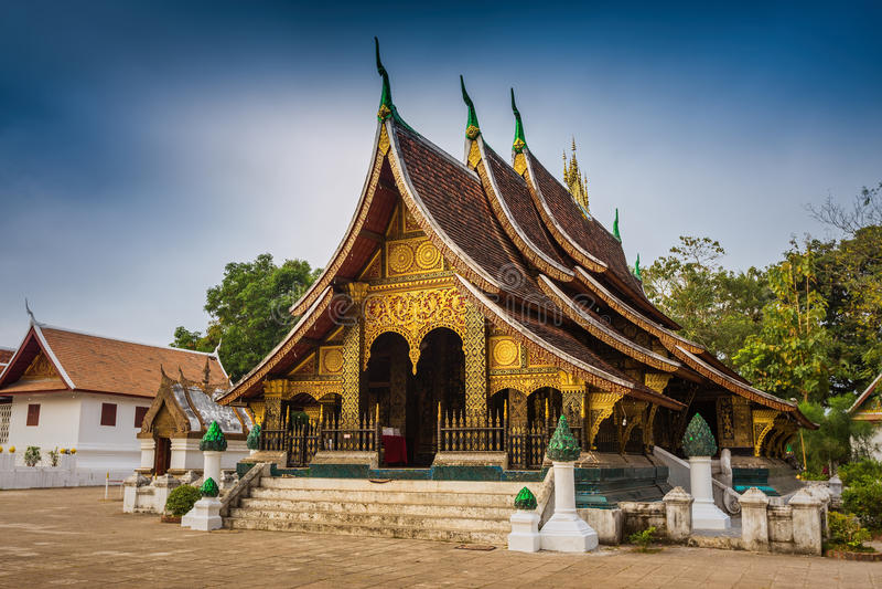 Temple de lanière de Wat Xieng, coup de Luang Pra image libre de droits