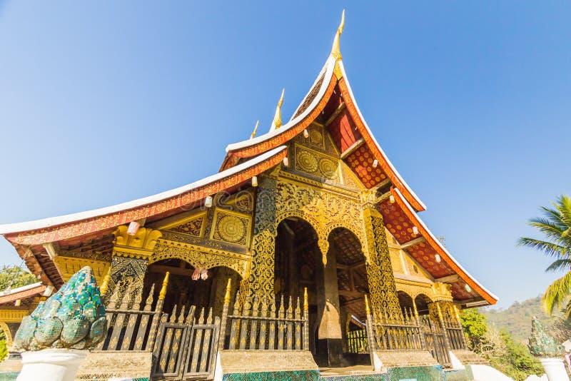 Temple de lanière de Wat Xieng, coup de Luang Pra, Laos image stock