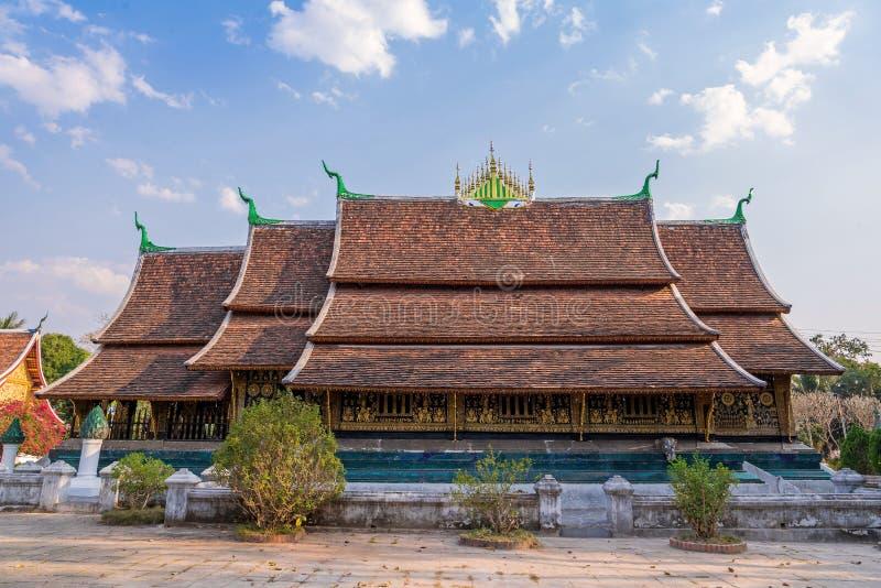 Temple de lanière de Wat Xieng dans le coup de Luang Pra, Laos photos libres de droits