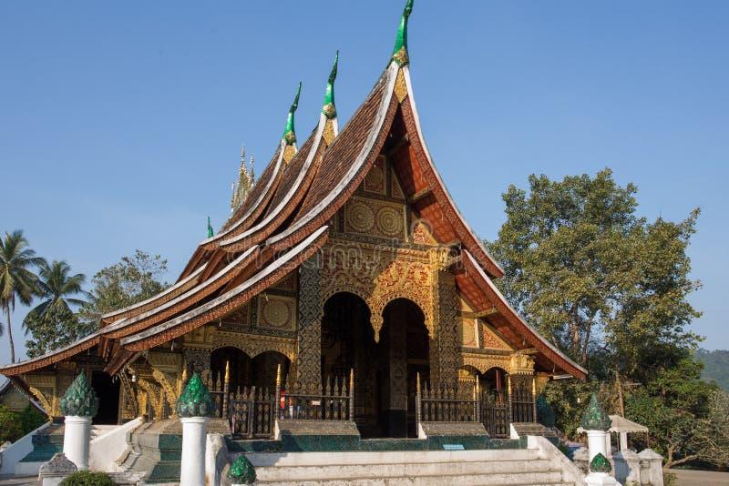Temple de lanière de Xieng dans Luang Prabang image libre de droits