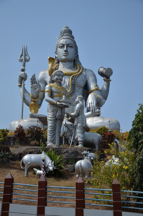 Temple de Lord Shiva, Karnataka, Inde photo libre de droits