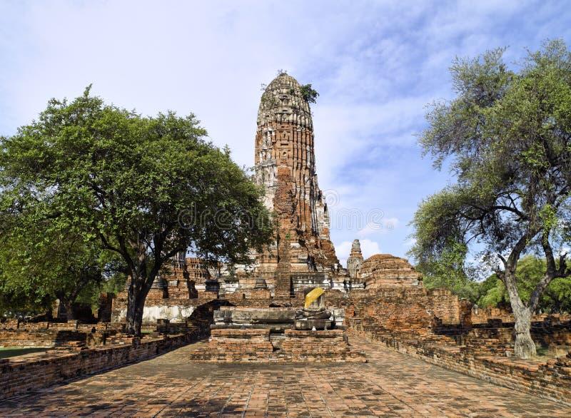 Temple de mémoire vive d'Ayutthaya Wat Phra photo stock