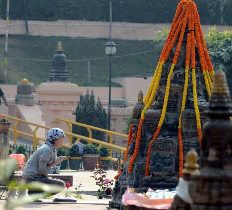 Temple de Mahabodhi dans Bodhgaya, Bihar, Inde photographie stock